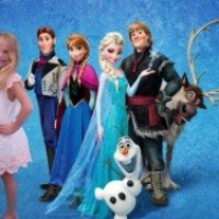 Green Screen Photo Shoot Frozen