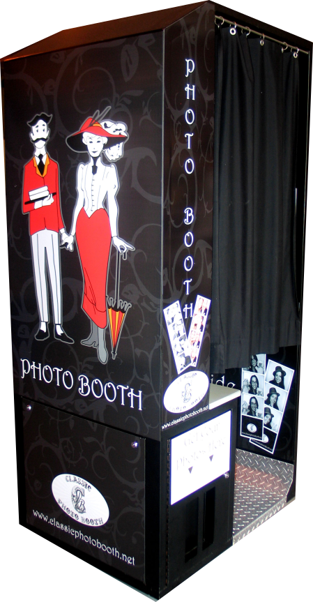 Digital Standard Black Wedding Photo Booth
