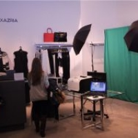 Flip Book Station Green Screen Photo Shoot BCBG Maxazria