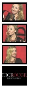 Digital Photo Booth Strip - Dior Rouge - Color