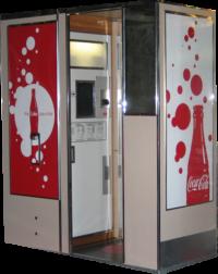 Coca Cola custom vintage photo booth