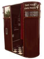 Model 11 vintage photo booth wooden