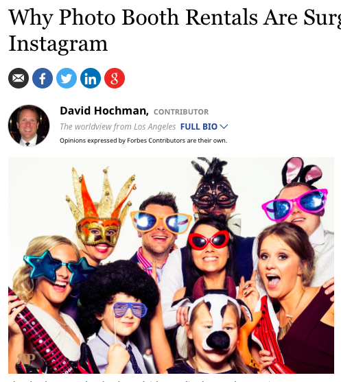 Photo Booth Rental - Forbes.com