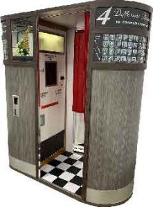 Analog model 11 photo booth from 1960th