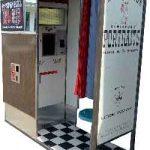 Happy customer vintage photo booth