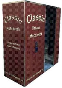 Wooden photo booth for Leasing
