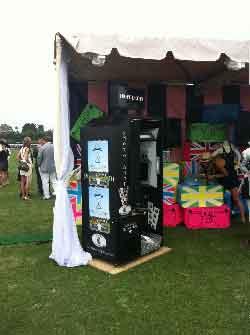 Royal custom photo booth