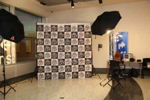 Step and repeat photo shoot